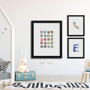 State Wall Art // Kids Artwork Display