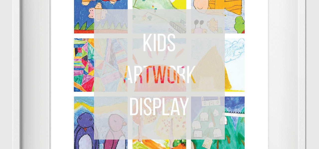 Kids Art Display - Artwork made from your child artwork