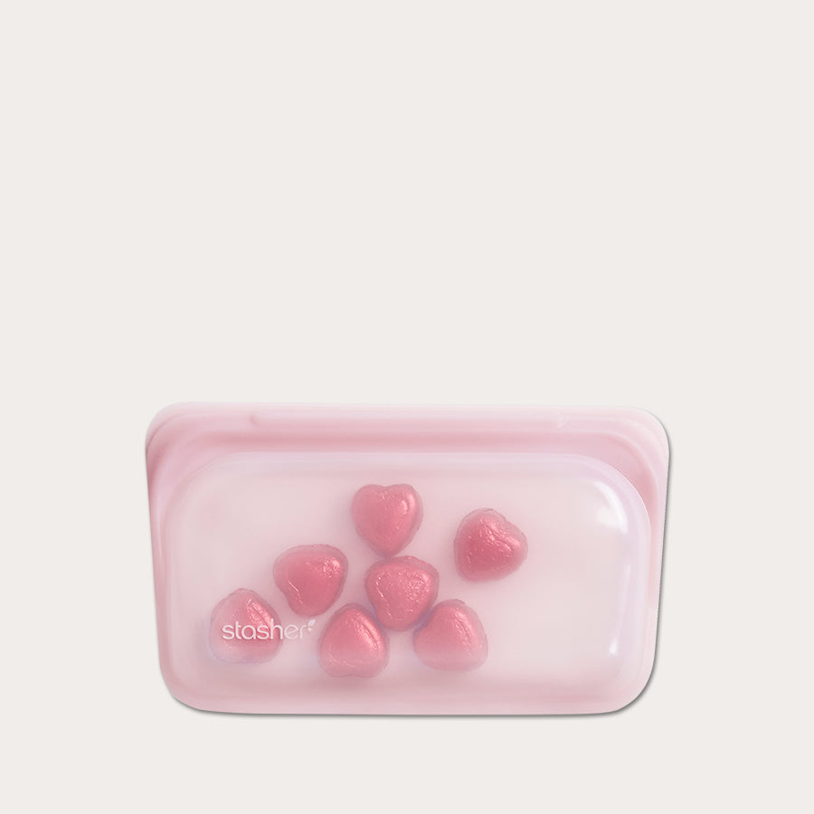 Stasher Snack Bag - silikone - Rose Quartz