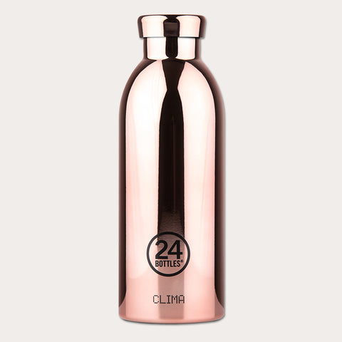 24Bottles Clima drikkeflaske i stål - Rose Gold - 500 ml