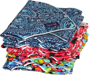 Cotton Blue Paisley Reflective Dog Bandana