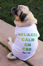 Load image into Gallery viewer, Relaxed, Calm on CBD Dog T-shirt