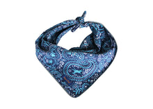 Load image into Gallery viewer, Blue Paisley Reflective Dog Bandana