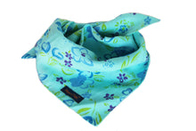 Load image into Gallery viewer, Turquoise Summery Dog Bandana