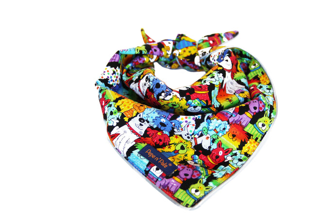 Dog Colorful Rainbow Reflective Bandana