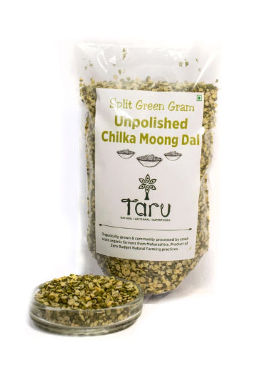 Handpounded Chilka Moong Dal Green Unpolished : 500 g