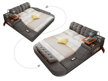 Load image into Gallery viewer, The Ultimate Bed with Integrated Massage Chair and Bluetooth Speakers