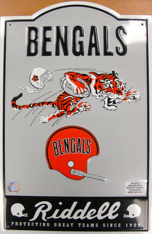 Cincinnati Bengals Nostalgic Metal Sign
