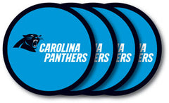 Carolina Panthers Vinyl Coasters 4 Pack