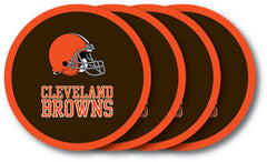 Cleveland Browns Vinyl Coasters 4 Pack