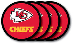 Kansas City Chiefs Vinyl Coasters 4 Pack