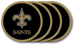 New Orleans Saints Vinyl Coasters 4 Pack