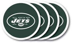 New York Jets Vinyl Coasters 4 Pack