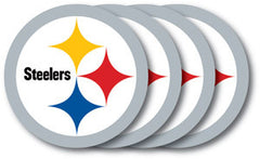 Pittsburgh Steelers Vinyl Coasters 4 Pack