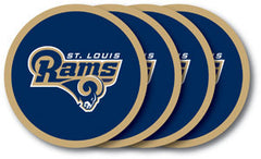 St. Louis Rams Vinyl Coasters 4 Pack
