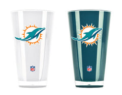 Miami Dolphins 2 Pack Insulated Tumbler