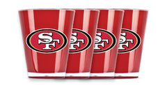 San Francisco 49ers 4 Pack Insulated Shot Glass