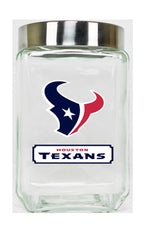 Houston Texans Large Glass Canister