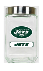 New York Jets Large Glass Canister