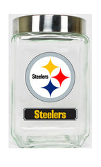 Pittsburgh Steelers Large Glass Canister