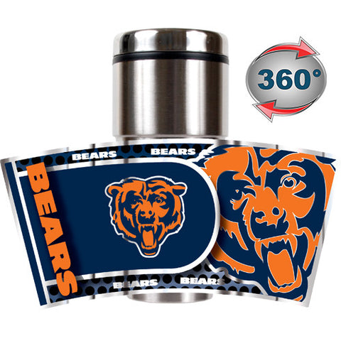 Chicago Bears Metallic Travel Tumbler