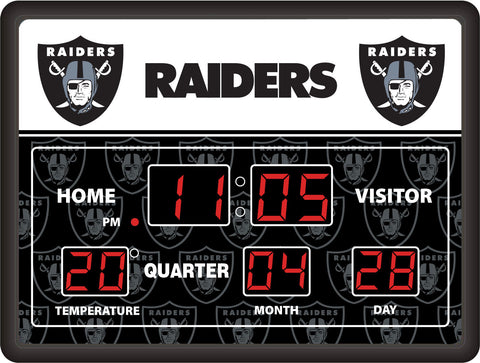 Oakland Raiders Lg Digital Scoreboard