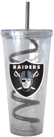 Oakland Raiders Swirl Straw Tumbler 22oz