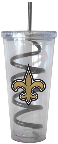 New Orleans Saints Swirl Straw Tumbler 22oz