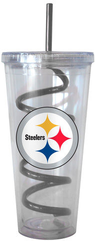 Pittsburgh Steelers Swirl Straw Tumbler 22oz