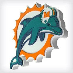 Miami Dolphins 3D FOAM SIGN