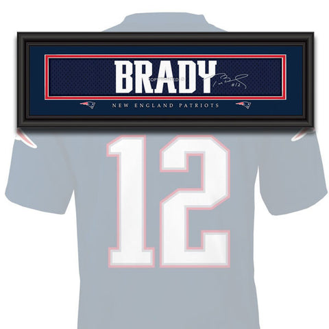 New England Patriots - Tom Brady - NFL Jersey Name Print