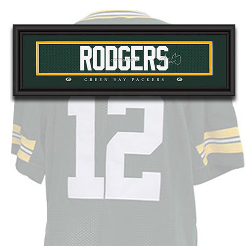 Green Bay Packers - Aaron Rodgers - NFL Jersey Name Print
