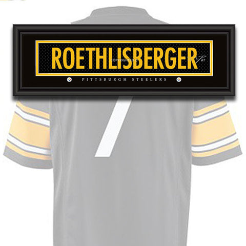Pittsburgh Steelers - Ben Roethlisberger - NFL Jersey Name Print