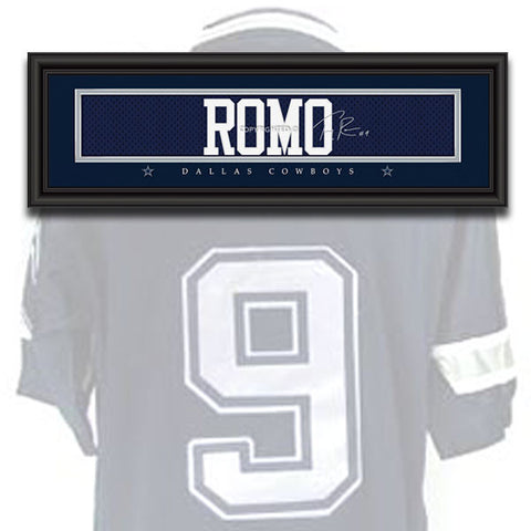 Dallas Cowboys - Tony Romo - NFL Jersey Name Print