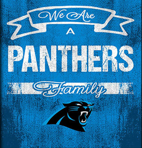 Carolina Panthers Family Cheer Framed Art