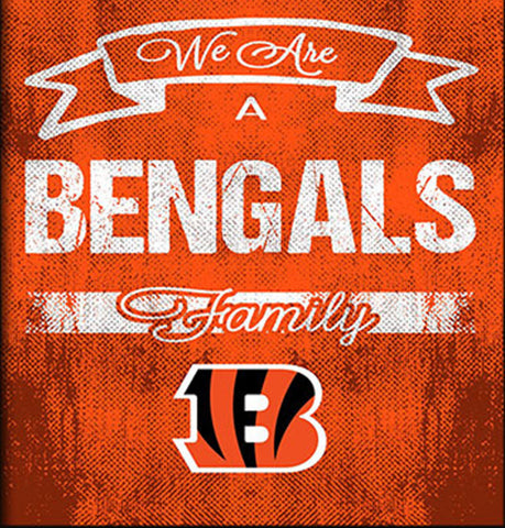 Cincinnati Bengals Family Cheer Framed Art