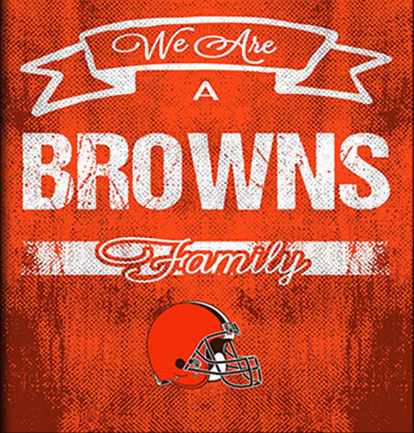 Cleveland Browns Family Cheer Framed Art