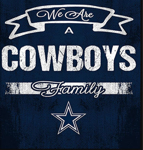 Dallas Cowboys Family Cheer Framed Art