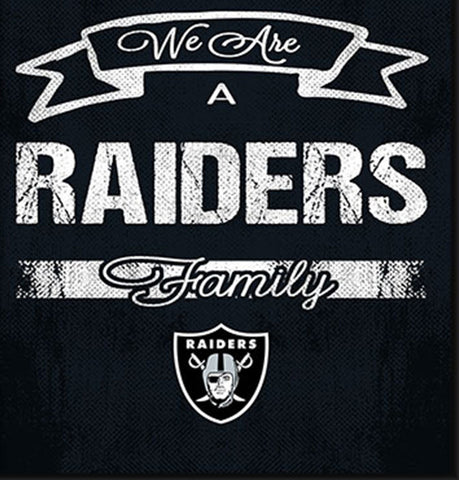Oakland Raiders Family Cheer Framed Art