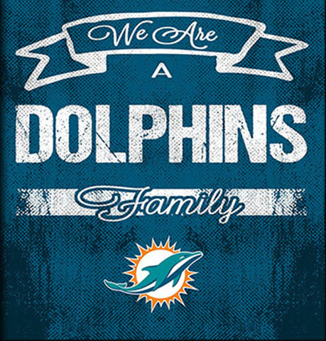 Miami Dolphins Family Cheer Framed Art