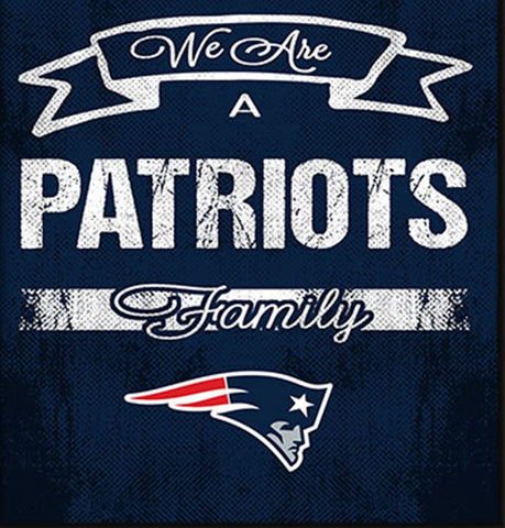 New England Patriots Family Cheer Framed Art