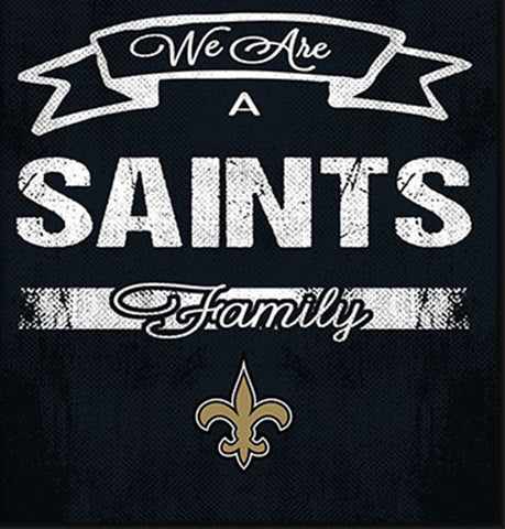 New Orleans Saints Family Cheer Framed Art