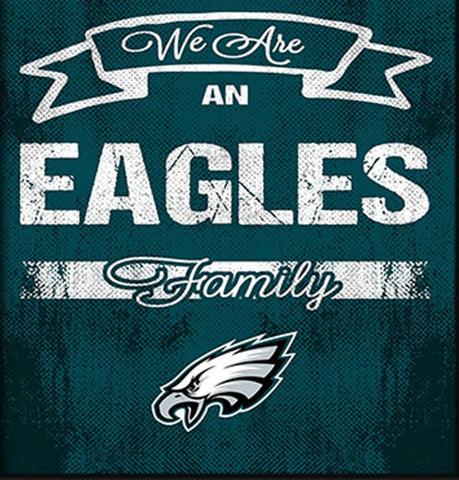 Philadelphia Eagles Family Cheer Framed Art