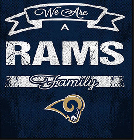 St. Louis Rams Family Cheer Framed Art