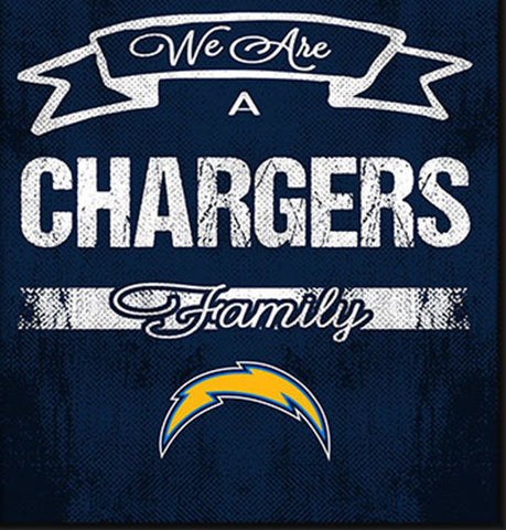 San Diego Chargers Family Cheer Framed Art