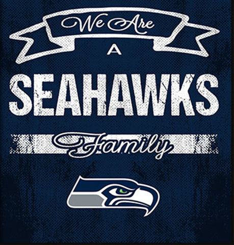 Seattle Seahawks Family Cheer Framed Art