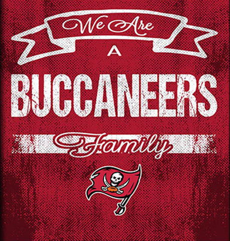Tampa Bay Buccaneers Family Cheer Framed Art