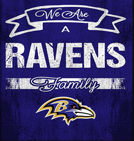 Baltimore Ravens Family Cheer Framed Art