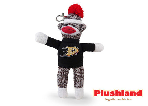 "4"" Sock Monkey Keychain  - DUCKS"