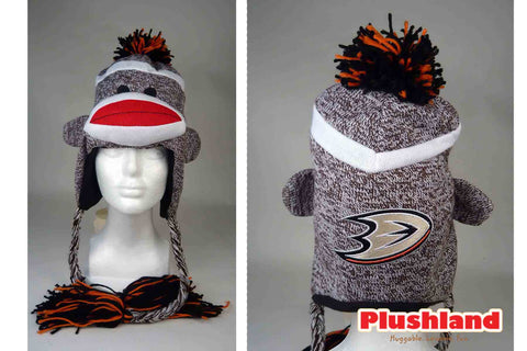 Sock Monkey Hat  - DUCKS